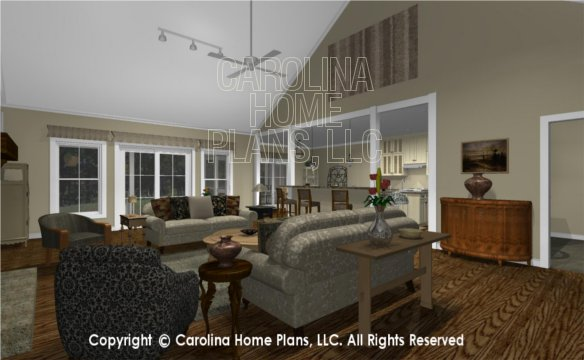 MS-2390-AC 3D Living Room to Kitchen