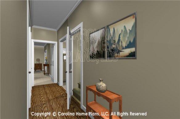 MS-2390-AC 3D Hallway, bonus room stairs
