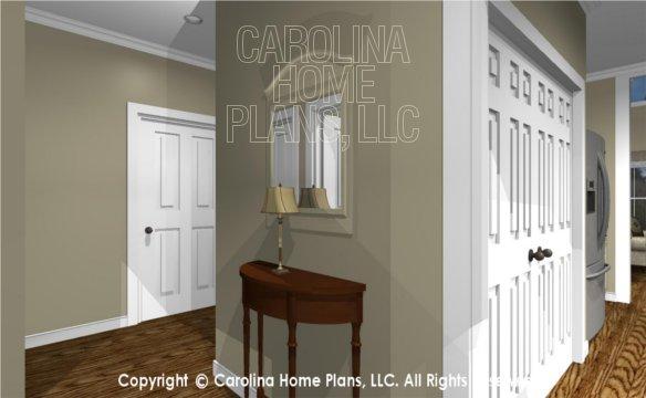 MS-2390-AC 3D Hallway, Kitchen and Garage
