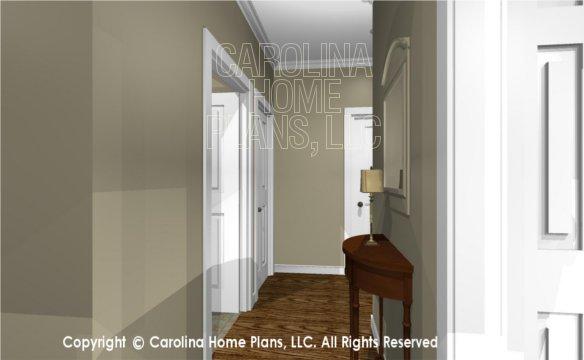 MS-2390-AC 3D Hallway to Laundry