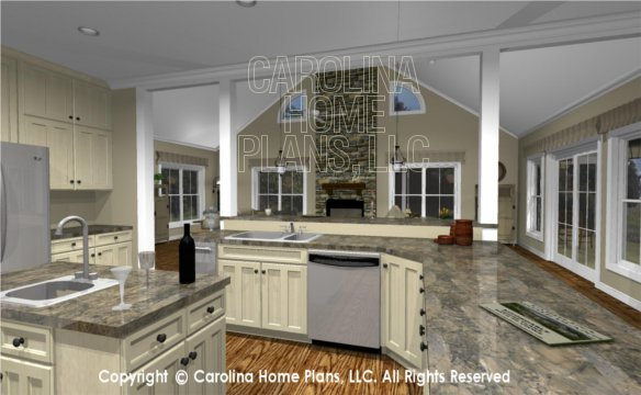 MS-2390-AC 3D Kitchen to Great Room
