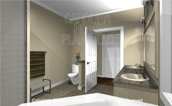 MS-2390-AC 3D Master Bath to Closet
