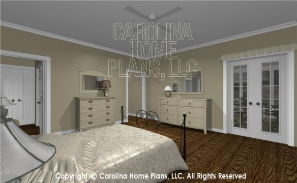 MS-2390-AC 3D Master Bedroom to Screened Porch