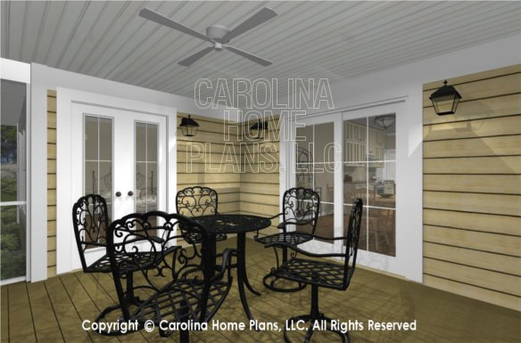 MS-2390-AC 3D Screened Porch to Master Bedroom