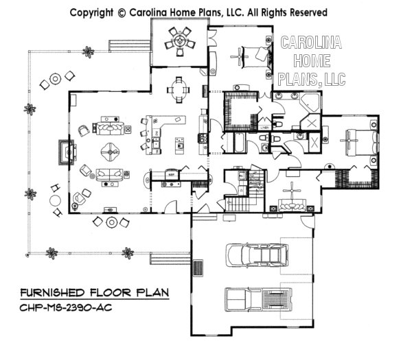 MS-2390-AC Furnished main Floor Plan