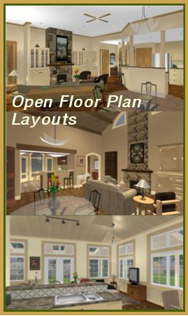 Open Floor Home Plans
