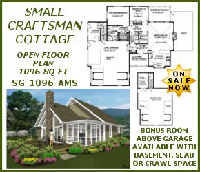 sg-1096-Small Craftsman Country Plan On Sale