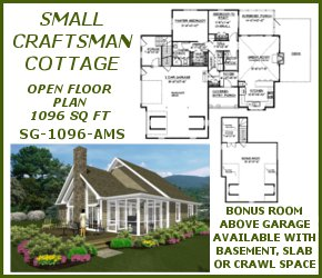 sg-1096-Small Craftsman Country Plan