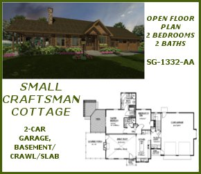 SG-1332-AA Small Craftsman House Plan