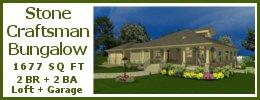 SG-1677 Stone Craftsman Bungalow Plan