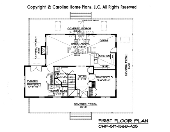 sm 1568 first floor plan - Open House Plans