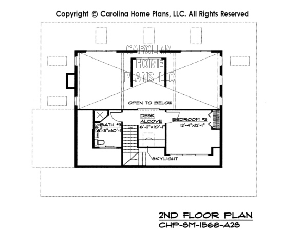 SM-1568 Second Floor Plan
