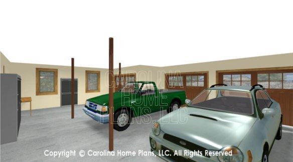 SM-1568 3D 3-Car Garage