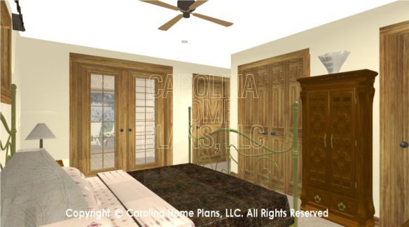 SM-1568 3D Master Bedroom to Porch
