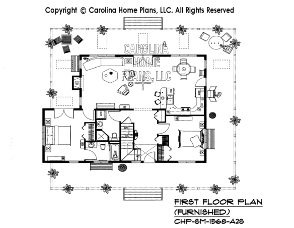 SM-1568-A2S Furnished First Floor Plan