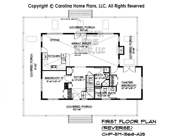 SM-1568 Reverse First Floor Plan
