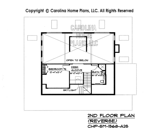 SM-1568 Reverse Second Floor Plan