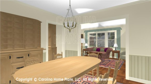 SG-1152 3D Dining Room to Living Room