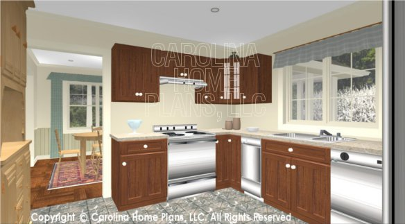 SG-1152 3D Kitchen to Dining Room
