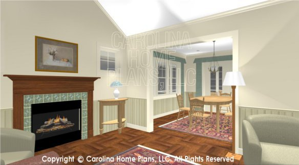 SG-1152 3D Living Room to Dining Room
