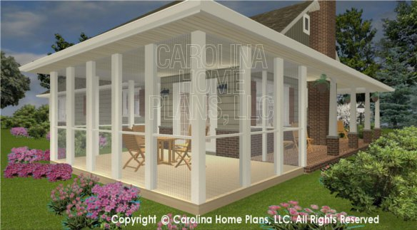 3d Images For Chp Sg 1199 Aa Small Ranch 3d House Plan