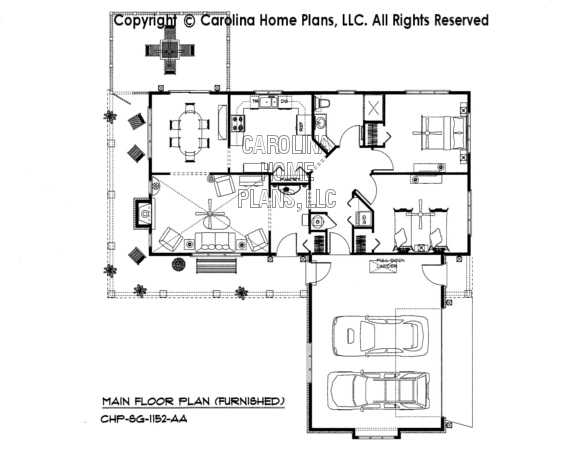 SG-1152-AA Furnished Main Floor Plan
