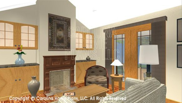 SG-1199 3D Living Room and Fireplace
