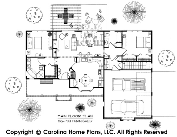SG-1199-AA Furnished Main Floor Plan