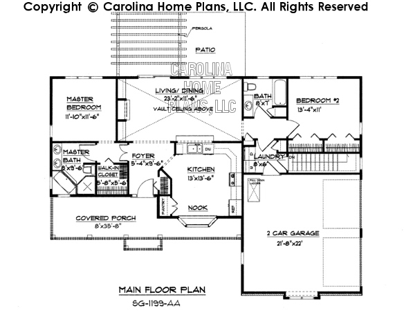 sg 1199 main floor plan 1199 small ranch style house plan sg 1199 sq ft affordable small home,House Plans Llc