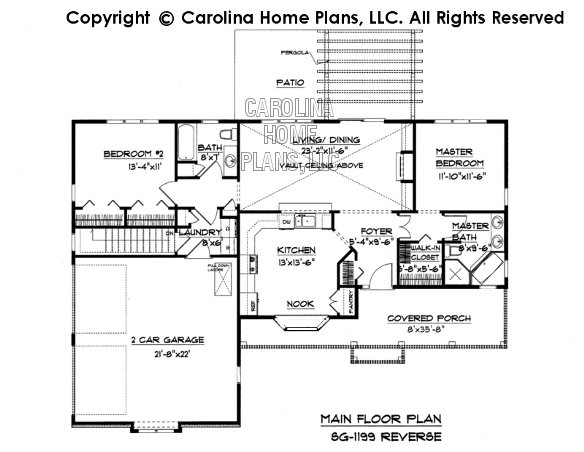 Small Ranch Style House Plan SG Sq Ft Affordable Small Home - 1200 square feet tiny house designs