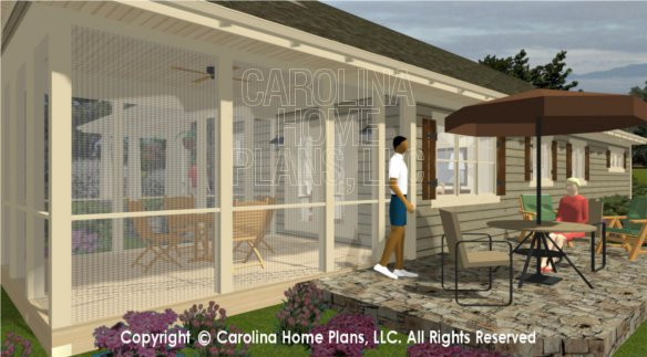 SG-1248 3D Screened Porch - Back View