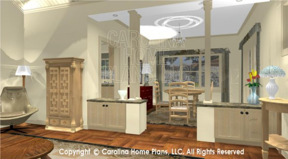 SG-1248 3D Living Room to Dining and Kitchen