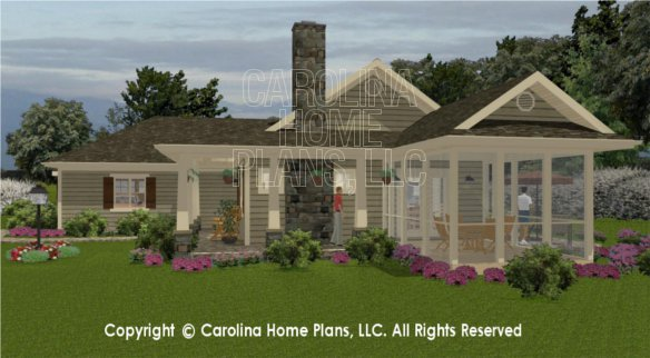 3d images for chp sg 1248 aa small country ranch 3d for Side view house plans