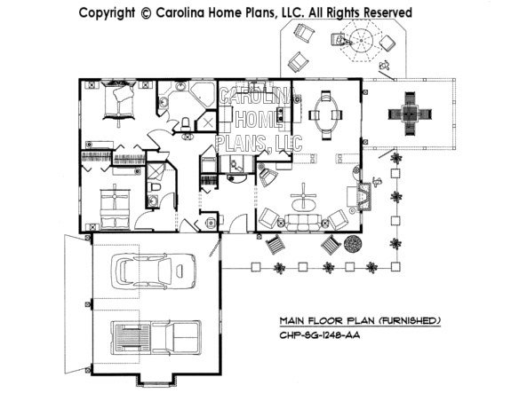 SG-1248-AA Furnished Main Floor Plan