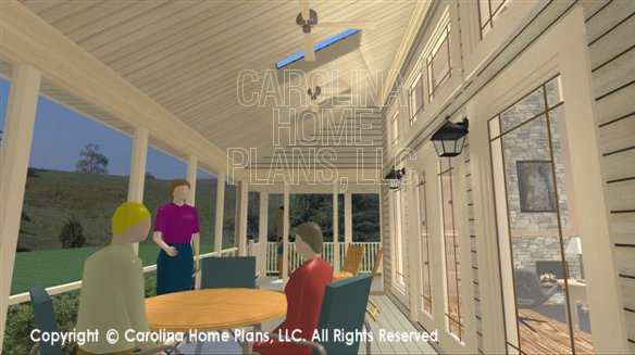 SG-1275 3D Screened Porch and Skylights