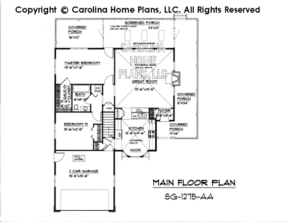 SG-1275 Main Floor Plan