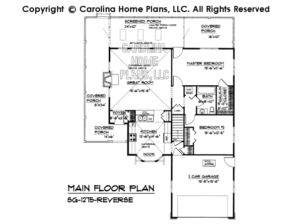 SG-1275 Reverse Main Floor Plan
