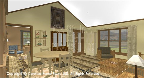 SG-1340 3D Living-Dining Room to Den