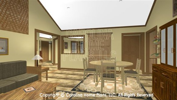 SG-1340 3D Living-Dining Room to Foyer
