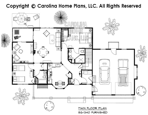 3d images for chp sg 1340 aa small craftsman style 3d for Carolina house plans