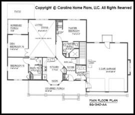 Small Craftsman Style House Plan SG-1340 Sq Ft | Affordable Small ...