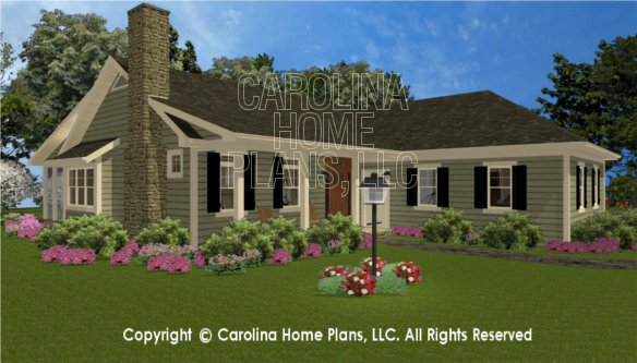 3d images for chp sg 1574 aa small country style 3d for Carolina house plans