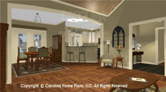 SG-1574 3D Living Room to Dining and Kitchen