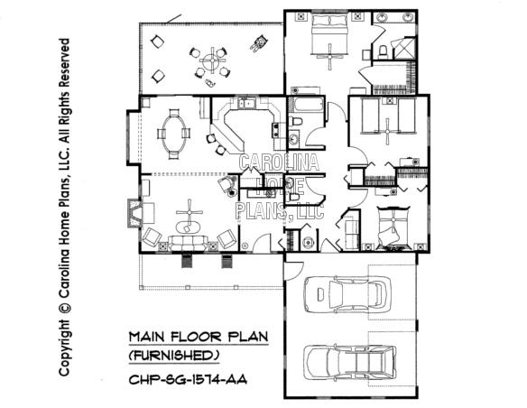 SG-1574-AA Furnished Main Floor Plan