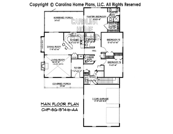 SG-1574 Main Floor Plan-Basement