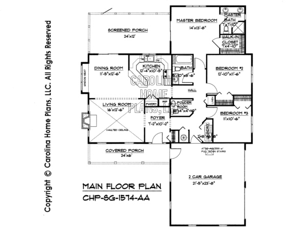 SG-1574 Main Floor Plan