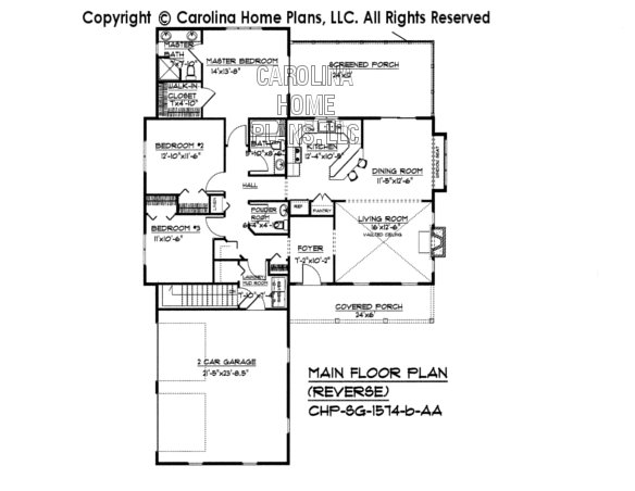 SG-1574 Reverse Main Floor Plan-Basement