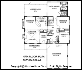 Small country style house plan sg 1574 sq ft affordable for 1600 sq ft open concept house plans