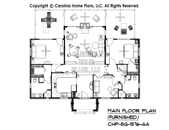 SG-1576-AA Furnished Main Floor Plan