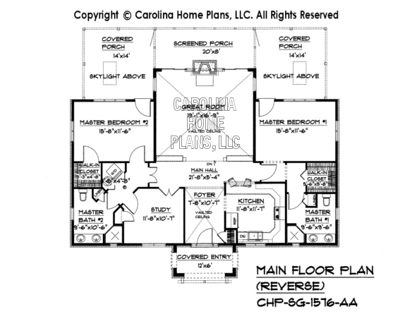 Small stone cottage house plan chp sg 1576 aa sq ft for Reverse floor plan